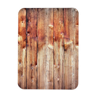Knotty pine rectangular photo magnet