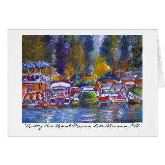 Knotty Pine Resort Marina... Greeting Cards