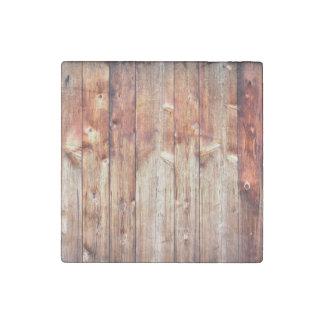 Knotty pine stone magnet