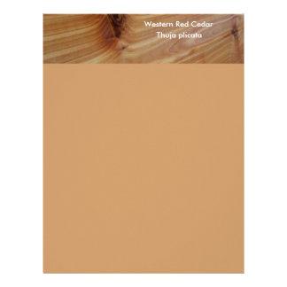 Knotty Western Red Cedar Board Letterhead