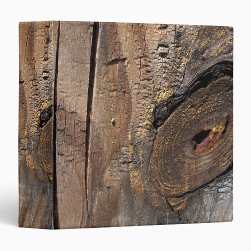 Knotty Wood Planks Binder