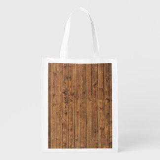 KNOTTY WOOD REUSABLE GROCERY BAG