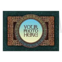 Knotwork Art Border Photo Frame Greeting Card