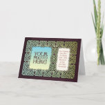 Knotwork Art Photo Frame Greeting Card