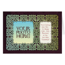 Knotwork Art Photo Frame Greeting Card