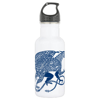 Knotwork Blue Dragon 18oz Water Bottle