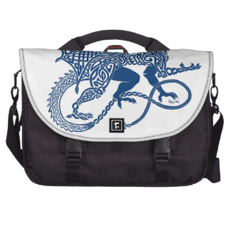 Knotwork Blue Dragon Bags For Laptop