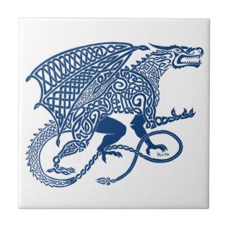 Knotwork Blue Dragon Tiles