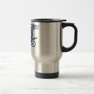Knotwork Blue Dragon Travel Mug