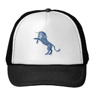 Knotwork Blue Unicorn Mesh Hat