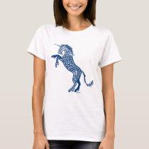 Knotwork Blue Unicorn T-Shirt