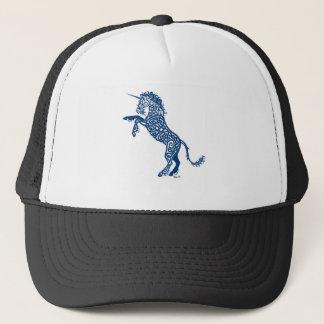 Knotwork Blue Unicorn Trucker Hat