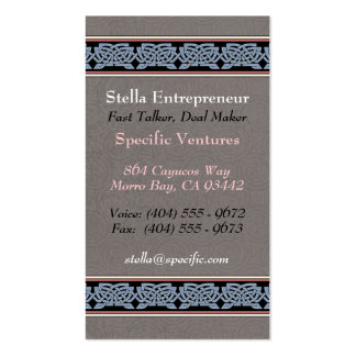 Knotwork Border Business Cards, Style B Double-Sided Standard Business Cards (Pack Of 100)
