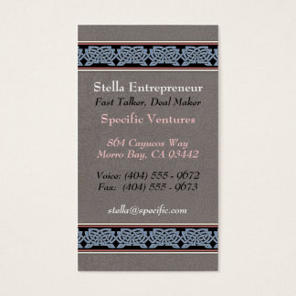 Knotwork Border Business Cards, Style B Business Card