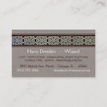 Knotwork Border Business Cards, Style C Business Card