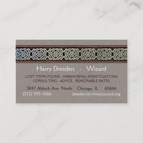 Knotwork Border Business Cards, Style C
