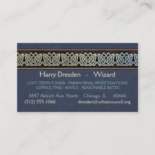 Knotwork Border Business Cards, Style D
