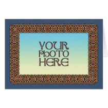 Knotwork Border Photo Frame Greeting Card