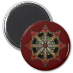 Knotwork Chaos Star Magnet