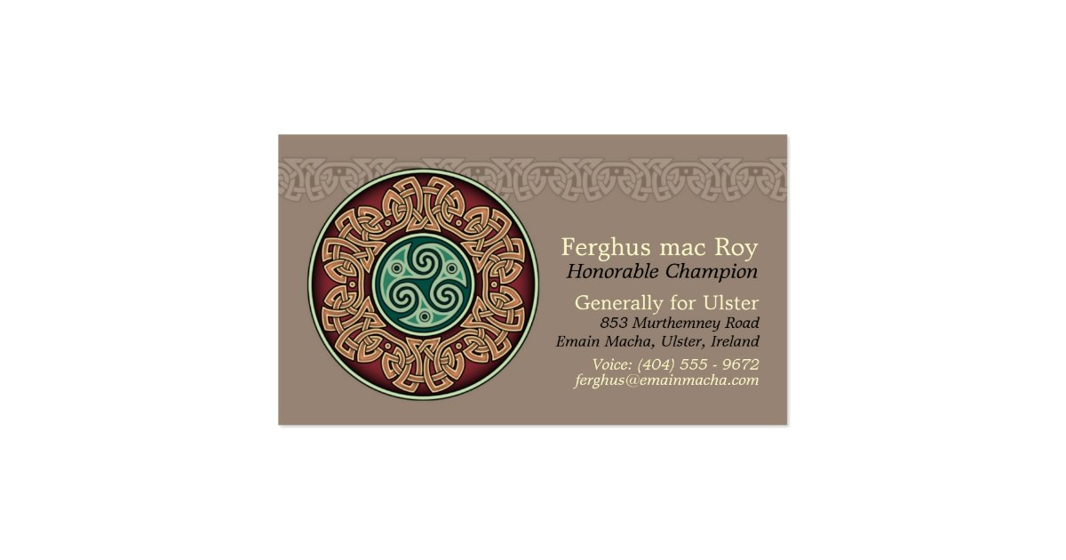 Knotwork Circle Business Cards