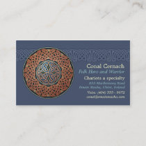 Knotwork Circle Business Cards, Style B Business Card