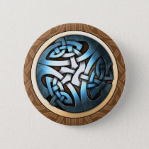 Knotwork Circle Round Button