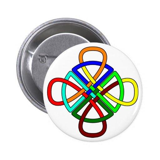 Knotwork Cross Button