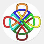 Knotwork Cross Sticker