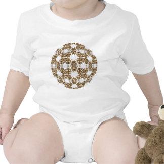 Knotwork de oro trajes de bebé