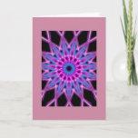 knotwork flower Birthday card