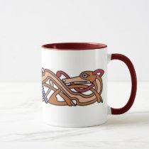knotwork hounds mug