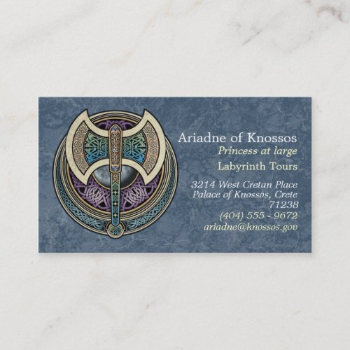 Knotwork Labrys Business Cards