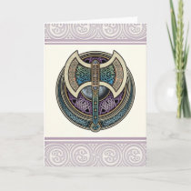 Knotwork Labrys Greeting Card
