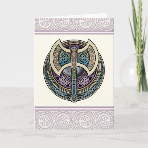 Knotwork Labrys Greeting Card