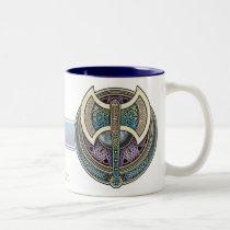 Knotwork Labrys Mug