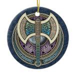 Knotwork Labrys Pendant/Ornament Ceramic Ornament