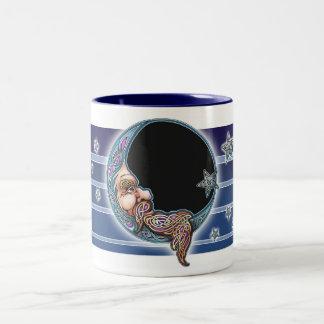 Knotwork Moon Face Mug