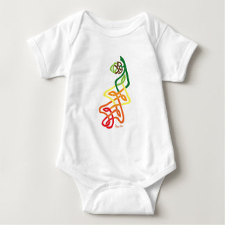 Knotwork Oak Leaf Changing Seasons Baby Bodysuit