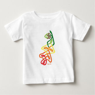 Knotwork Oak Leaf Changing Seasons Baby T-Shirt