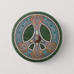 Knotwork Peace Sign Button