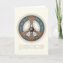 Knotwork Peace Sign Greeting Card