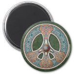 Knotwork Peace Sign Magnet