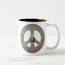 Knotwork Peace Sign Mug