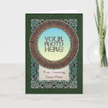 Knotwork Ring Border Photo Frame Greeting Card