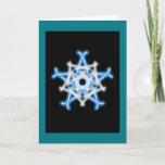 knotwork snowflake Christmas card