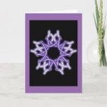 knotwork snowflake, purple, Christmas card