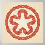knotwork star roound dsign poster