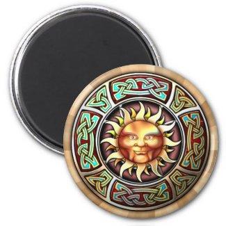 Knotwork Sun Face Magnet magnet