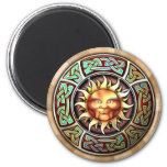 Knotwork Sun Face Magnet
