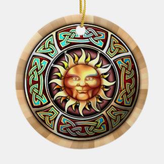 Knotwork Sun Pendant Ornament